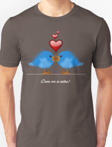 LOVE ON A WIRE Unisex T-Shirt