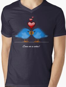 LOVE ON A WIRE Mens V-Neck T-Shirt