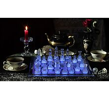 Chess By Candlelight with Tea Photographic Print
