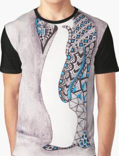Pattern Penguin Graphic T-Shirt