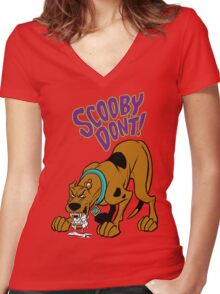 Scooby Don't! Women's Fitted V-Neck T-Shirt