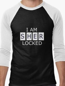 I AM SHER - LOCKED Men's Baseball ¾ T-Shirt