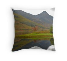 Loch Leven, by Glencoe Throw Pillow