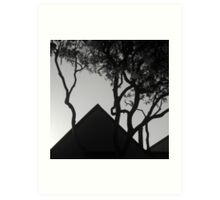Rooftop Silhouettes Art Print