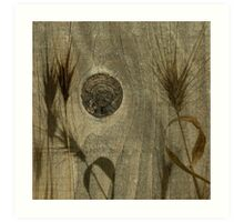 Pretty Fence and Weeds Art Print