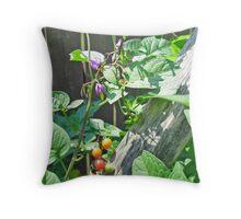 Bittersweet Nightshade - Solanum dulcamara Throw Pillow