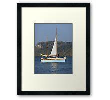 Sailboat on Lake Pepin Framed Print
