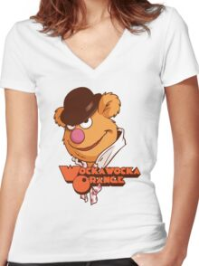 Fozzie Droog Women's Fitted V-Neck T-Shirt