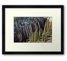 Upper Athabasca River Canyon Framed Print