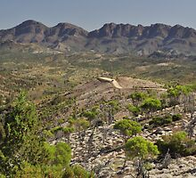 The Heyson Range , Flinders Ranges by Terry Everson