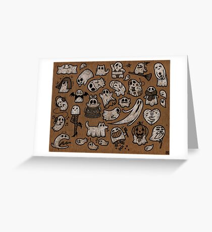 Sheet of GHOSTS Greeting Card