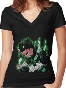 Rock Lee! Women's Fitted V-Neck T-Shirt