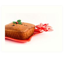 Christmas Fruity Cake Art Print