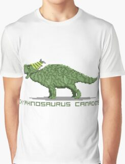 Pixel Pachyrhinosaurus Graphic T-Shirt