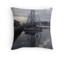 7.30am - Hobart docks (Tasmania) Throw Pillow