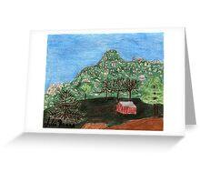 Drawing of the Pinnacles Greeting Card