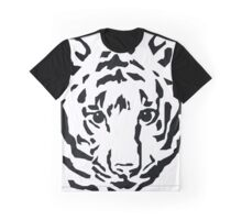 Tiger Black and White Graphic T-Shirt