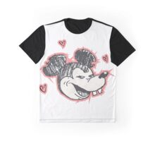 Amorous Mouse Graphic T-Shirt