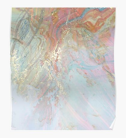 Pastel Marble #redbubble Poster