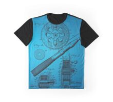 Fishing Reel Patent 1906 - Blue Graphic T-Shirt