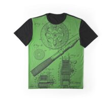 Fishing Reel Patent 1906 - Green Graphic T-Shirt