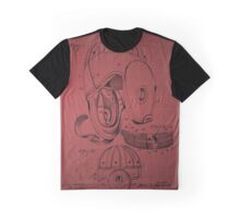 Football Helmet Patent  From 1927 - Burgundy Graphic T-Shirt