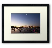 Sunset Over Sydney, NYE 2011 Framed Print