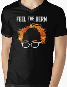 FeelTheBern Flaming Bernie Hair Shirt Mens V-Neck T-Shirt