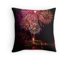 New years 2012 Nobbys lighthouse Throw Pillow