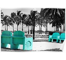 A Touch of Teal in Miami Poster