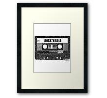 ROCK n' ROLL CASSETTE Framed Print