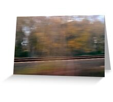 Speed Nature V Greeting Card