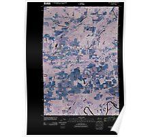 USGS Topo Map Washington State WA Onalaska 20110429 TM Inverted Poster