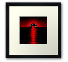 Vinyl sunset red Framed Print