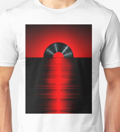 Vinyl sunset red Unisex T-Shirt