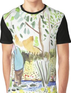 The Council Worker Clearing the Pond Graphic T-Shirt