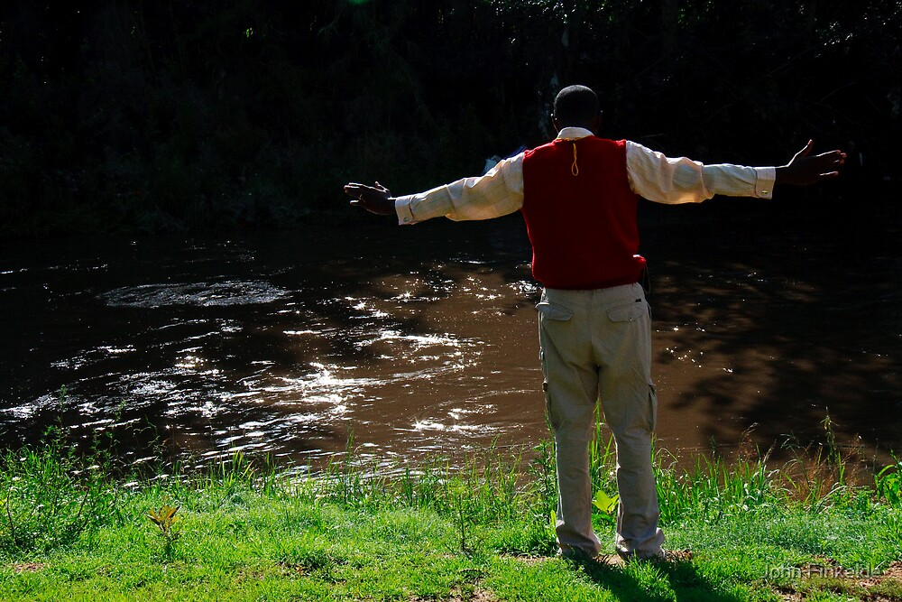 Lay down your burdens down by the riverside by John Finkelde