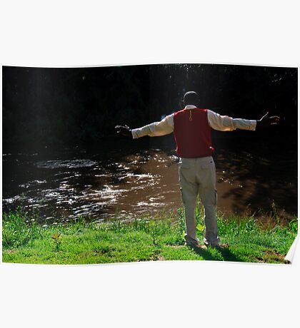 Lay down your burdens down by the riverside Poster