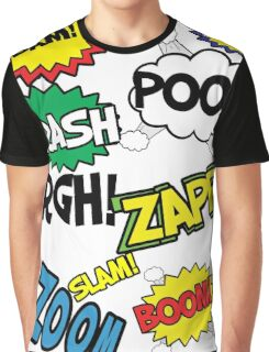 Comic Sound Effects Graphic T-Shirt