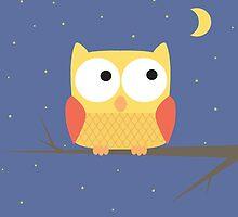 Cute Owl by Mitchell Massie