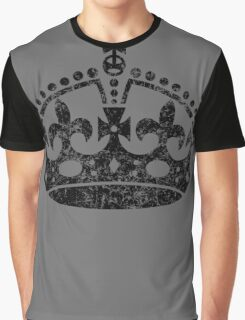 Distressed Grunge Keep Calm Crown Graphic T-Shirt