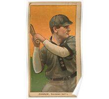 Benjamin K Edwards Collection Frank Chance Chicago Cubs baseball card portrait 001 Poster