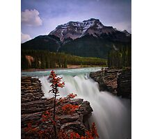 Athabasca Falls on Bow River, Alberta Canada Photographic Print