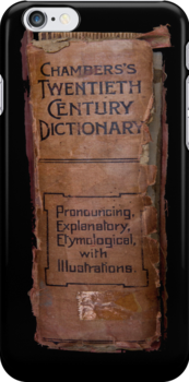 Chamber's Twentieth Century Dictionary - iPhone Case by Bryan Freeman