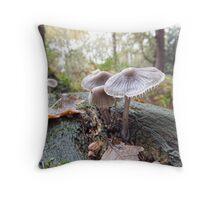Open Bell Cap Fungi Throw Pillow