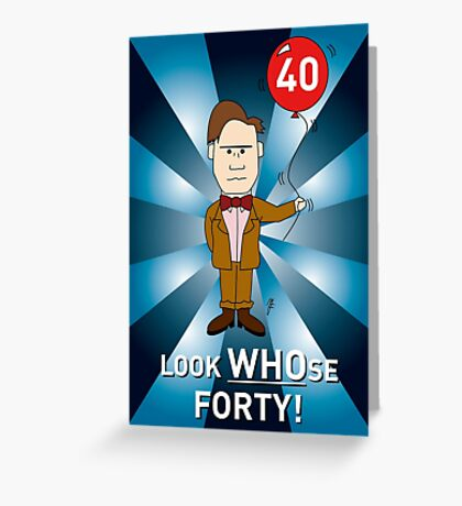 Doctor Who Card - with age amended Greeting Card