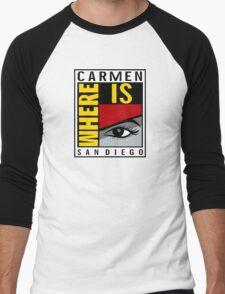 Where is Carmen? Men's Baseball ¾ T-Shirt