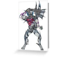 Transformers Pretender Bomb Burst  Greeting Card