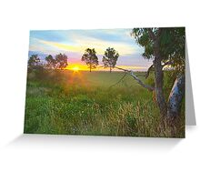 Sunset at Ballarat, Vic, Australia Greeting Card