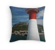 Light in the harbour Throw Pillow